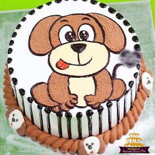 Bánh-sinh-nhật-hình-con-chó-cute
