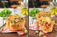 Philo individual con mozzarella y chorizo