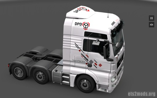DPD Skin for MAN + trailer