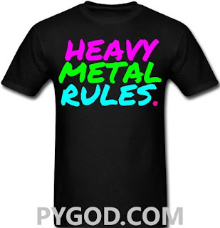 Heavy Metal Rules t-shirt  #PMRC PYGOD.COM