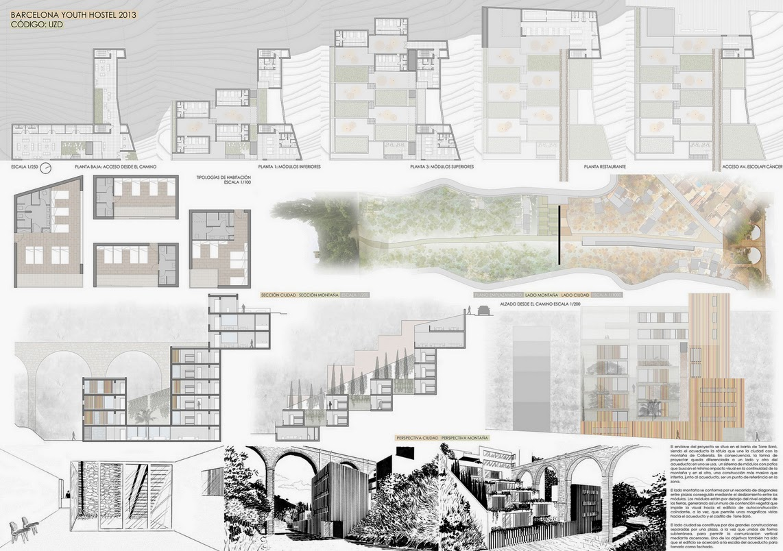 Concurso barcelona youth hostel a r challenge aib - Escuela de arquitectura de barcelona ...