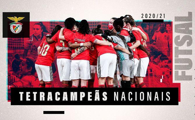 Benfica Campeão Nacional 2020/21 em Futsal Feminino