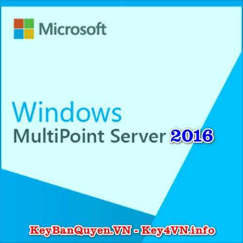 Mua bán key bản quyền Windows Server 2016 MultiPoint Premium.