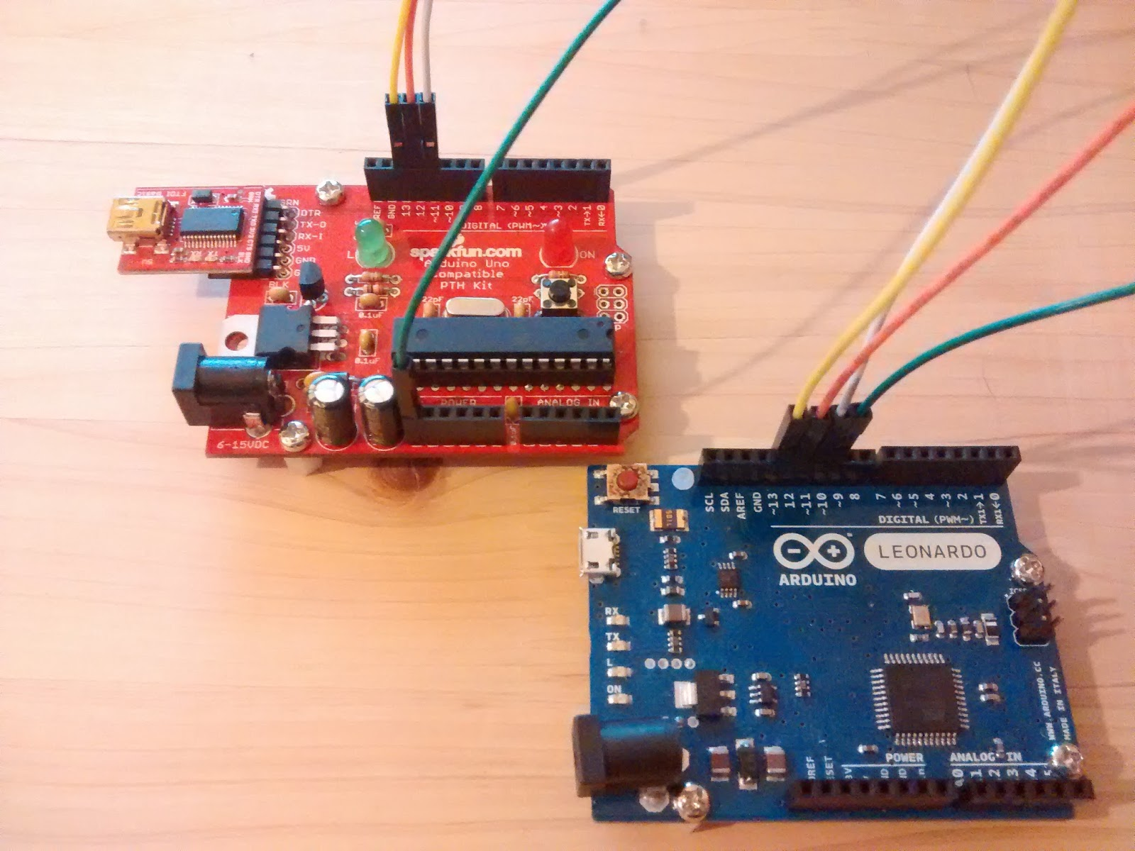 あとで考える arduino burning the bootloader