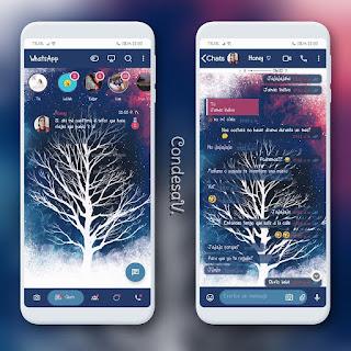 Weathered Tree Dark Theme For YOWhatsApp & MN WhatsApp By Ethel
