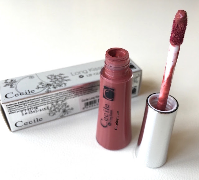 cecile long kisses lip gloss 18 kalıcı mat likit ruj