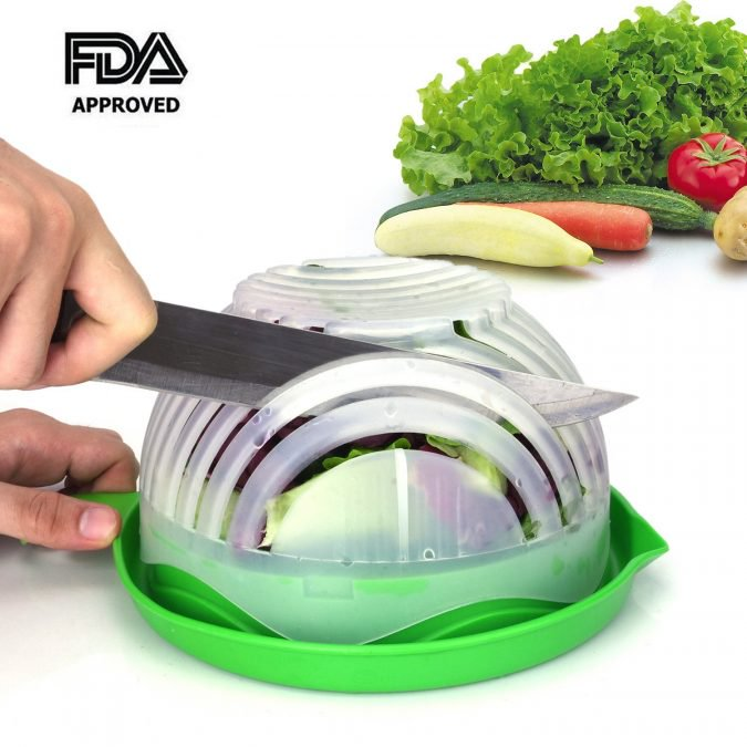29 Life-Saving Kitchen Inventions We Wished We Had In Our Own House - Brilliant Salad Cutter Bowl