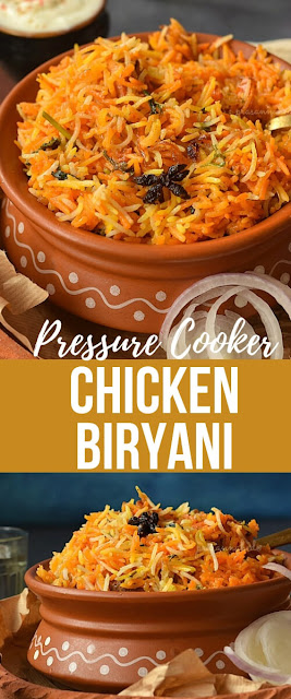 Pinterest image of Chicken Biryani