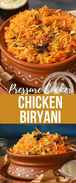 Pinterest image of Chicken Biryani