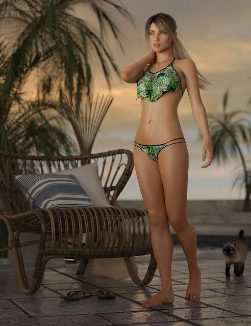 dForce Wilder Bikini Outfit for Genesis 8 Female
