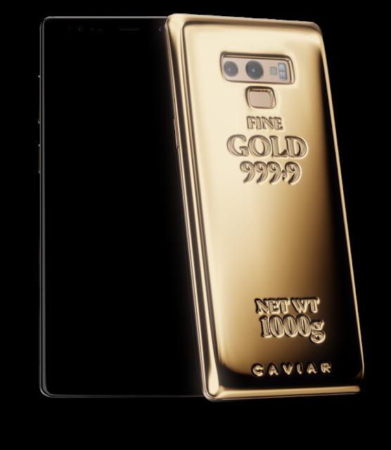 Mahalnya, Galaxy Note 9 Fine Gold Edition dengan Emas 1 Kg
