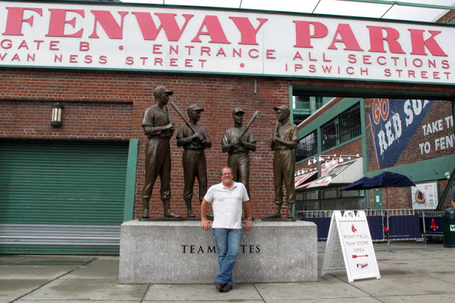 Me in front of Fenway Park...