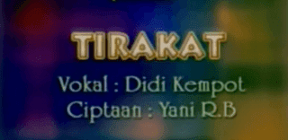 Lirik Lagu Tirakat - Didi Kempot