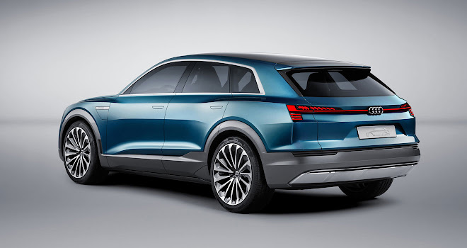 Audi e-Tron Quattro rear view