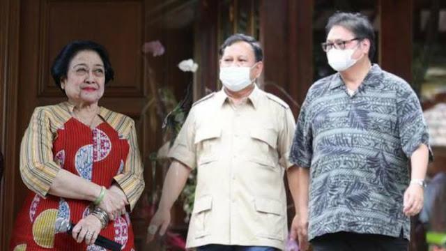 LSI Denny JA: Megawati, Prabowo, dan Airlangga Jadi King Maker Pilpres 2024