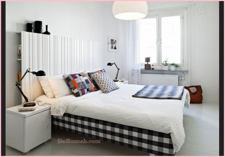 50 desain interior kamar tidur minimalis warna cat putih. Black Bedroom Furniture Sets. Home Design Ideas
