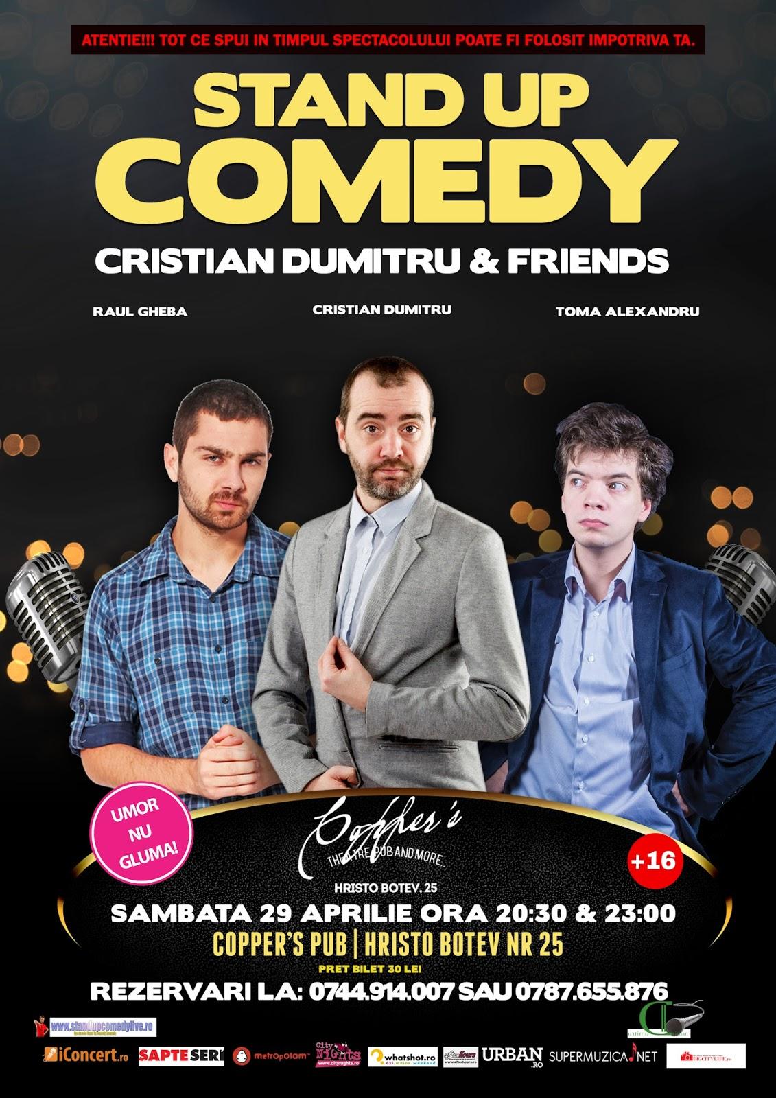 Stand-Up Comedy sambata 29 Aprilie Bucuresti