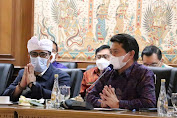 Bupati Sanjaya  Bersama Gubernur Bali  Rapat  Percepatan Vaksinasi Menuju Bali Bangkit