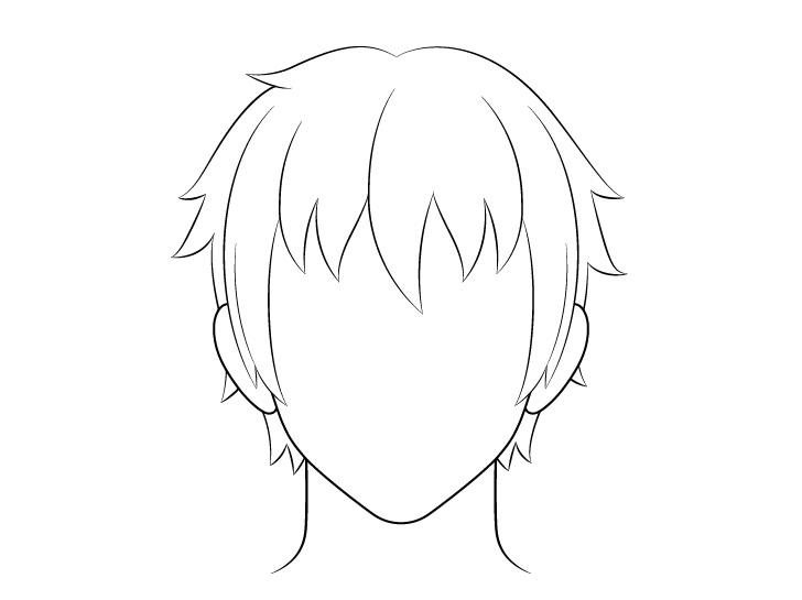 Gambar garis rambut pria anime