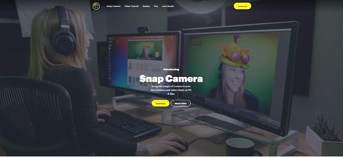 Logiciel snap camera filtre pour camera