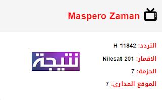 تردد قناة ماسبيرو زمان Maspero Zaman الجديد 2018 على النايل سات