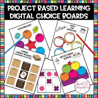 product cover - project based learning digital choice boards