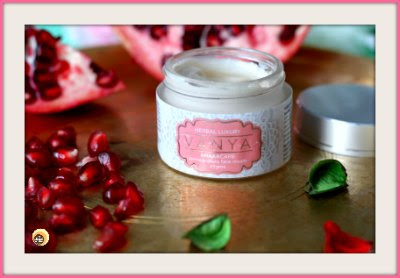 Vanya Herbal Anaarcare Pomegranate Face Cream Review on Natural Beauty And Makeup blog