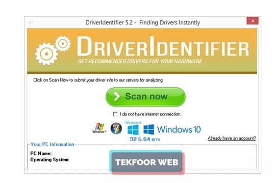تحميل تعريفات ويندوز 7 للنسخة 32 و 64 بت لجميع الاجهزة بدون نت Driver Identifier