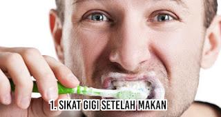 Sikat gigi setelah makan untuk mengatasi masalah bau mulut