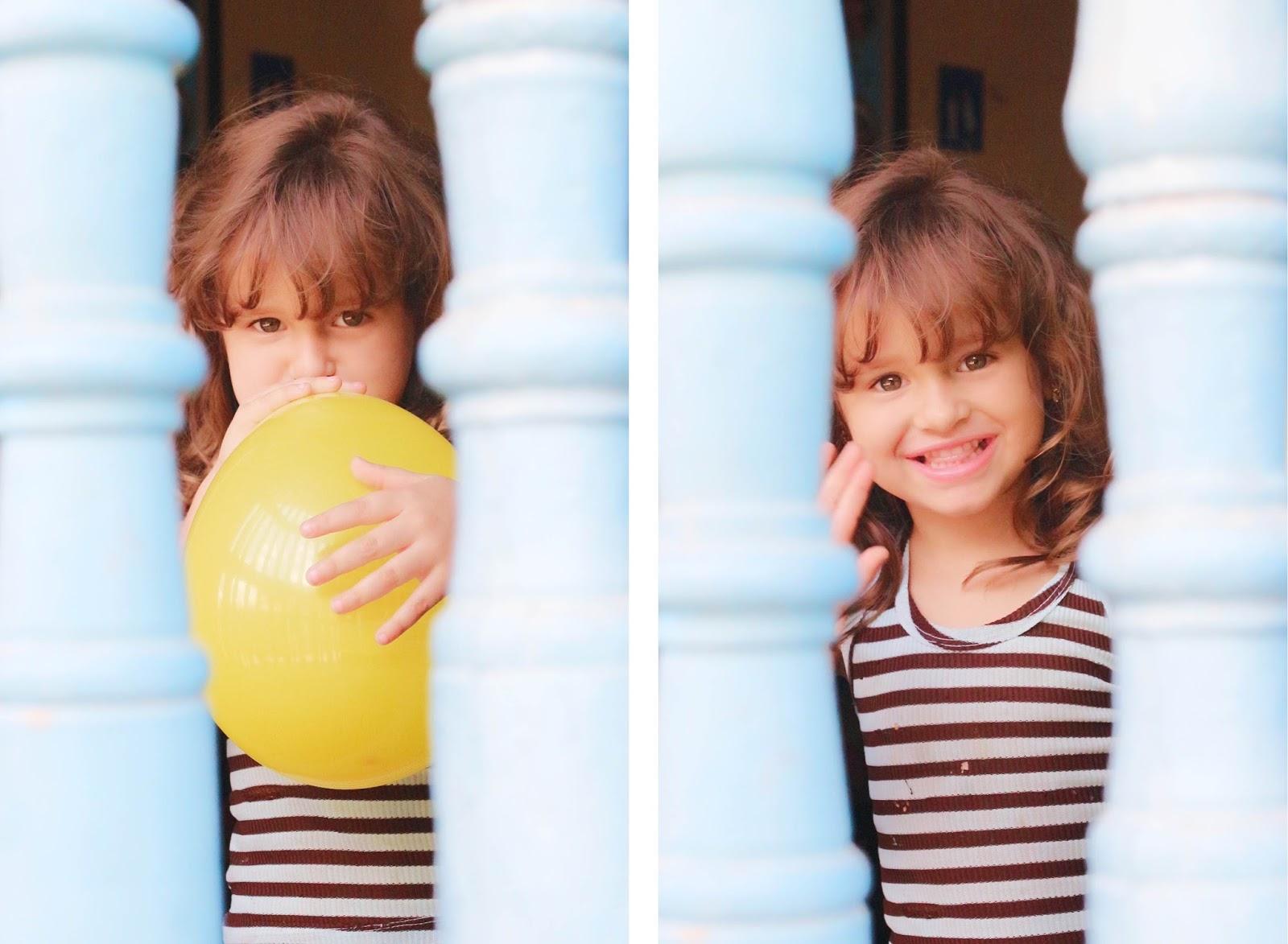Petite fille et son ballon jaune, Trinidad - Cuba