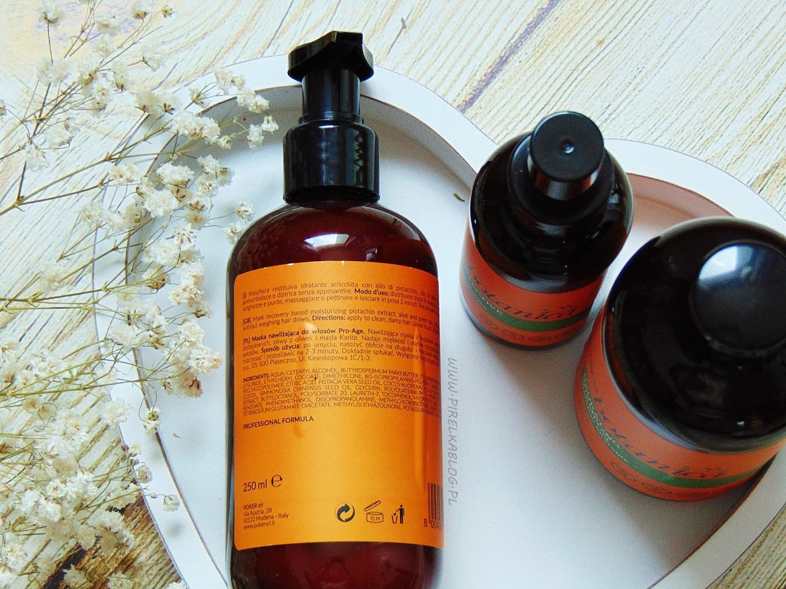 Trico Botanica, włoskie kosmetyki do pielęgnacji włósów, seria Pro-Age \ nawilżenie
