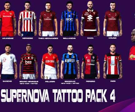 PES 2020 Supernova Tattoo Pack V4