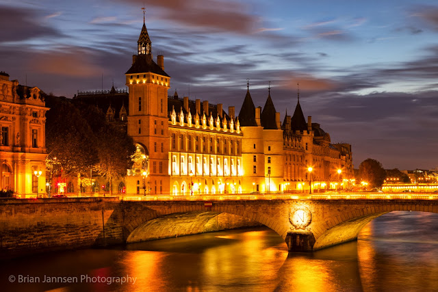 The Conciergerie was once a royal palace and prison and now part of the much larger Palais de Justice.