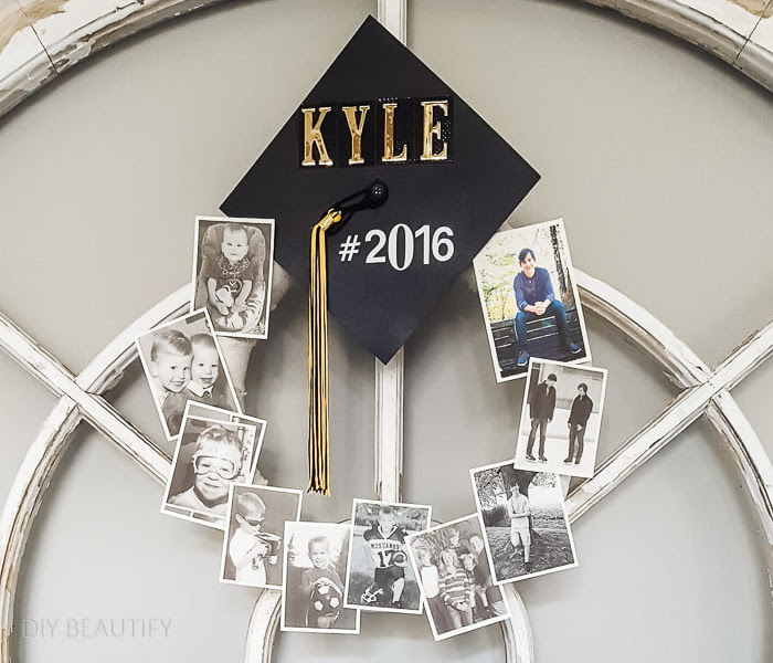 Graduation Memory Wreath