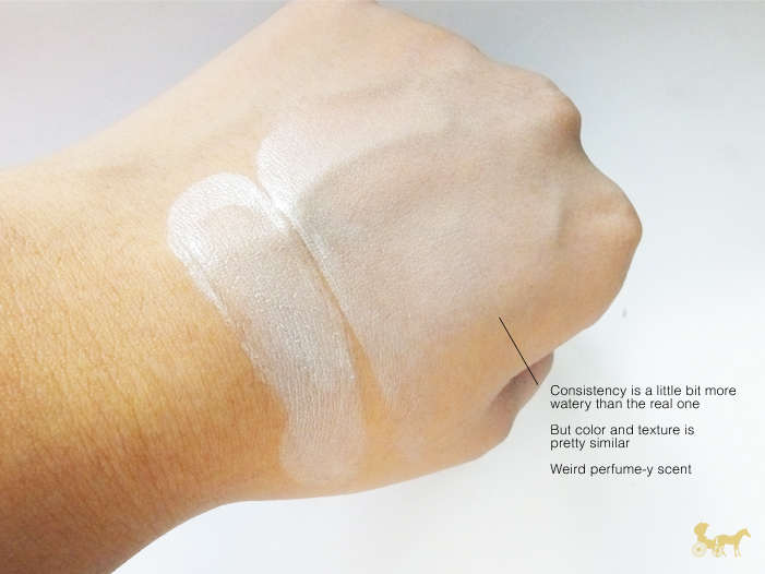 fake etude house cushion makeup swatch