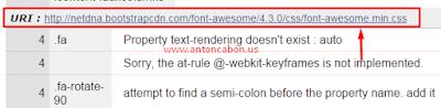 Error Pada CSS3
