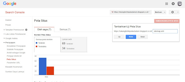 Cara Cepat Kirim Sitemaps Ke Webmaster Google Console