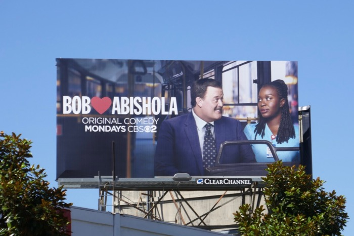 Bob Hearts Abishola series launch billboard