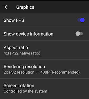 how to play PS2 games on Android - Graphics