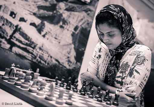 L'Indienne Harika Dronavalli (2539), une des favorites de la compétition d'échecs - Photo © David Llada