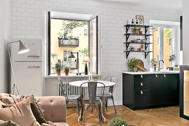Plan deschis într-un apartament de numai 48 m²