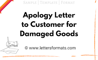 sample apology letter for defective product