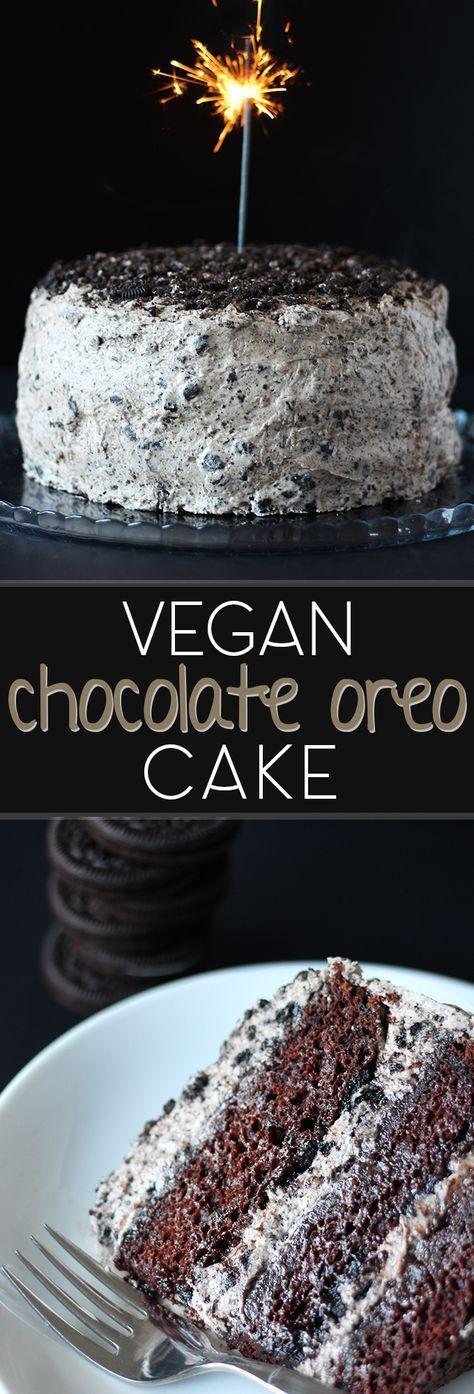 VEGAN CHOCOLATE OREO CAKE