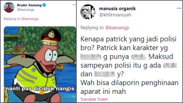 Unggah Meme Patrick Berseragam Polisi, Kaesang Dianggap Menghina Aparat