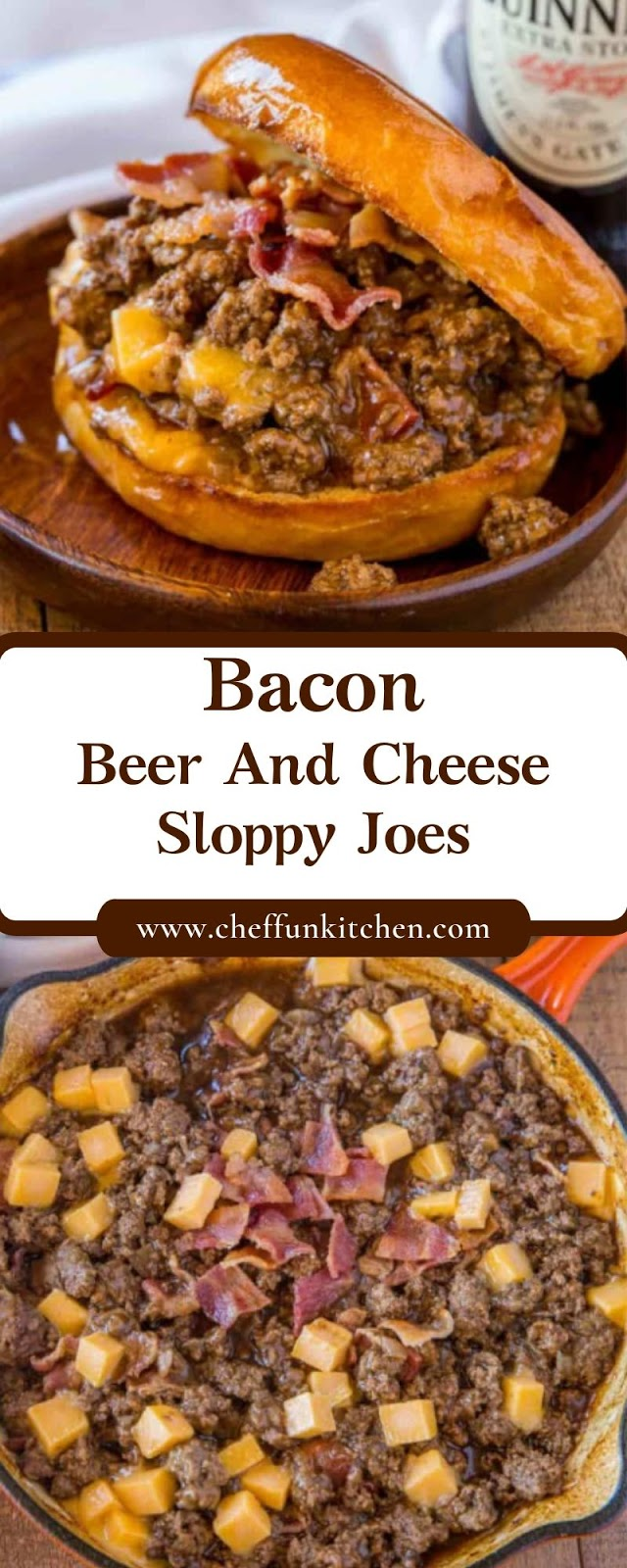 Bacon, Beer And Cheese Sloppy Joes