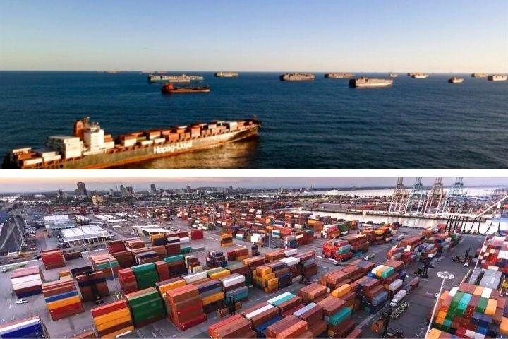 Congestionamento nos portos dos EUA pode não terminar este ano