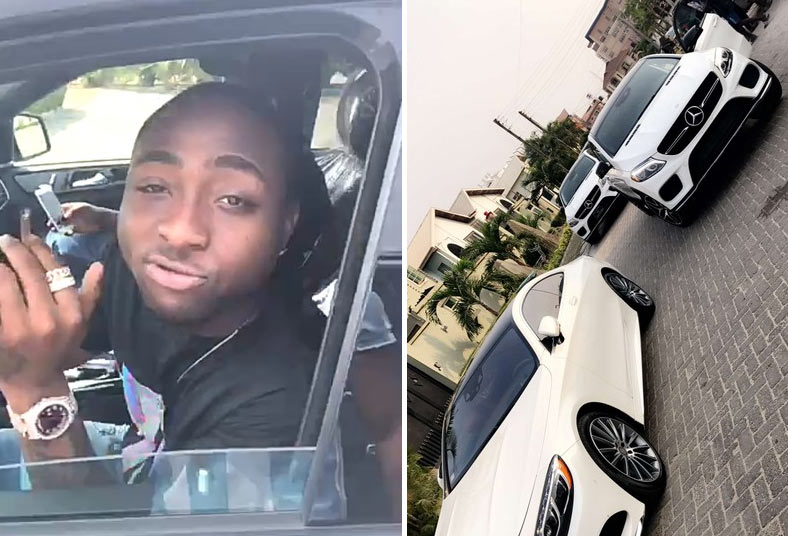 Davido gets a customized Police number plate for his new Benz