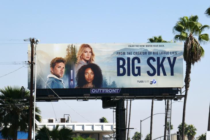 Big Sky series premiere billboard