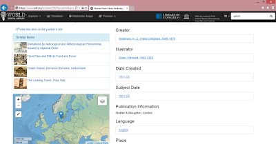 World Digital Library tétel és adatok