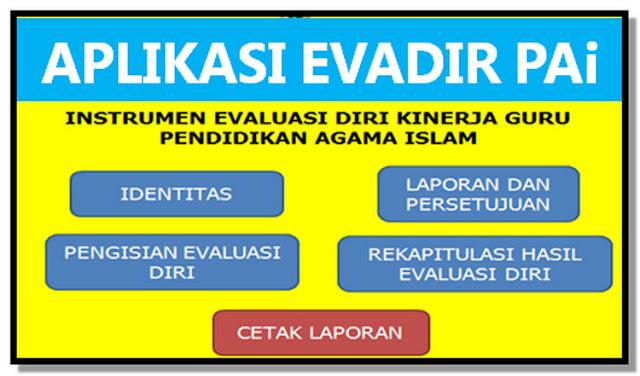 Unduh Aplikasi Evadir Guru PAI Tahun 2018.xls